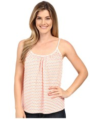 Lilla P Textured Stripe Swing Camisole Tangerine Stripe Women's Sleeveless Orange