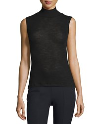 T By Alexander Wang Sheer Wool Ribbed Turtleneck Top Black Women's Size Xs