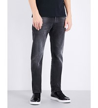 Replay Waitom Regular Fit Tapered Jeans Black