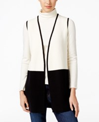 Charter Club Colorblocked Sweater Vest Only At Macy's Deep Black Combo
