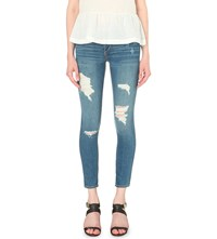 True Religion Halle Super Skinny Mid Rise Jeans Bwie Bl Dst