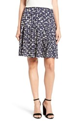 Nic Zoe Women's 'Fractured Squares Wink' Print Drop Yoke Skirt