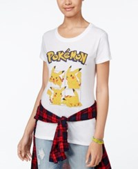 Hybrid Juniors' Pikachu Graphic T Shirt White