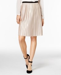 Tommy Hilfiger Pleated Shimmer Skirt Gold