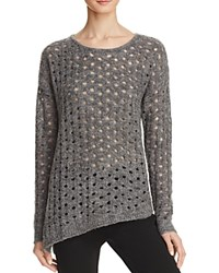 Aqua Dalia Circle Stitch Crewneck Sweater Grey
