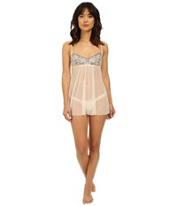 Hanky Panky Embroidered Babydoll Rosy Peach Women's Underwear White