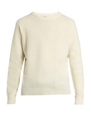 Christophe Lemaire Crew Neck Wool Sweater White