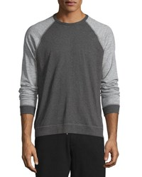 Rag And Bone Colorblock Raglan Sleeve Shirt Pewter