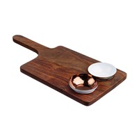 The Just Slate Company Sheesham Wood Serving Paddle And Bowl Set
