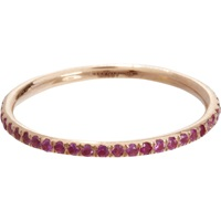 Pink Sapphire Thread Band Ring