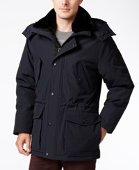 Calvin Klein Faux Fur Collar Hooded Parka Midnight