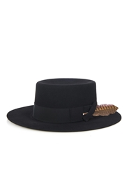 Saint Laurent Flat Brimmed Rabbit Felt Hat