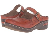 Spring Step Aneria Camel Women's Clog Mule Shoes Tan