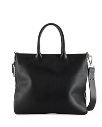 Cnc Costume National Zip Sided Leather Tote Bag Black Costume National
