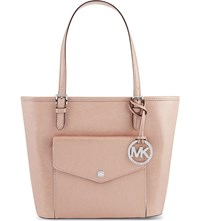 Michael Michael Kors Jet Set Item Medium Tote Ballet Metallic