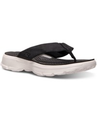 Skechers Women's Gowalk 3 Nestle Sandals From Finish Line Black White