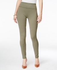 Inc International Concepts Pull On Ponte Skinny Pants Only At Macy's Olive Drab
