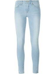 Frame Denim Light Wash Skinny Jeans Blue