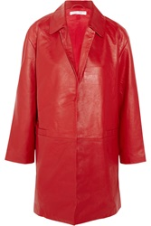 Current Elliott Charlotte Gainsbourg The Leather Coat Red