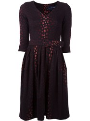 Samantha Sung Jacquard Flared Dress Black