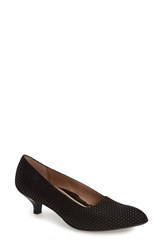 Beautifeel 'Mystique' Pump Women Black Puntino Print Suede
