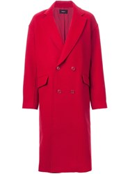 G.V.G.V. 'Raw Edge' Coat Red