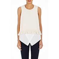 Derek Lam 10 Crosby Women's Layered Chevron Knit Shell Cream White Cream White
