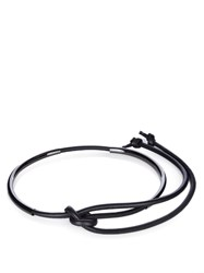 Sportmax Piuma Leather Belt Black