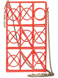 Anndra Neen 'Circle Square' Iphone Case Red