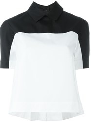 I'm Isola Marras Colour Block Shortsleeved Top White