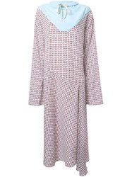 N Duo Houndstooth Drawstring Neck Dress Multicolour