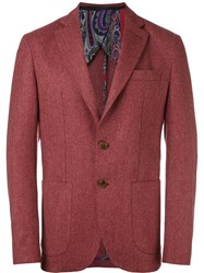 Etro Two Button Blazer Red