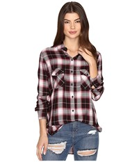 Bb Dakota Ebson Plaid Shirt Boysenberry Women's Clothing Pink