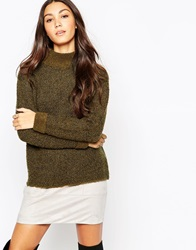 Esprit High Neck Boucle Jumper Darkkhaki