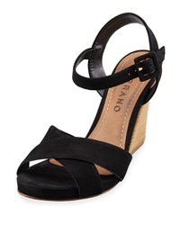 Carrano Talia Nubuck High Heel Sandal Black