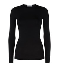 Hanro Soft Touch Long Sleeve Top Female Black