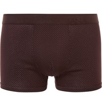 Dolce And Gabbana Micro Dot Cotton Boxer Briefs Burgundy