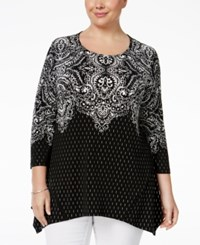 Jm Collection Plus Size Paisley Print Top Only At Macy's Golden Paisley