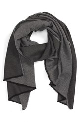 Alexander Olch Men's 'Dashiell' Cashmere And Silk Scarf Grey Dark Grey