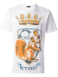 Etro Crown Print T Shirt White