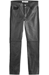 Mcq By Alexander Mcqueen Leather Paneled Jeans