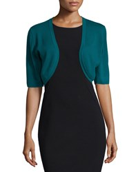 Michael Kors Collection Half Sleeve Open Front Shrug Peacock Women's Size L