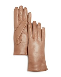 Bloomingdale's Leather Gloves Taupe