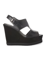 Whistles Papil Open Side Wedge Black