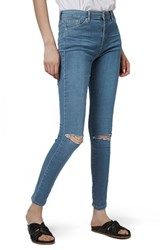 Topshop Women's 'Leigh' Ripped Skinny Jeans