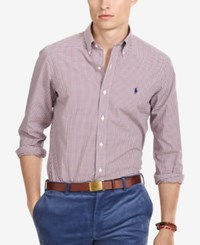 Polo Ralph Lauren Men's Relaxed Fit Checked Poplin Shirt Red Blue