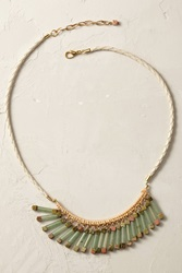 Anthropologie Jade Fringe Necklace Green
