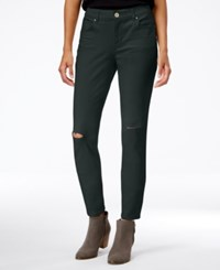 Styleandco. Style Co. Ripped Colored Wash Skinny Jeans Only At Macy's Carbon Grey