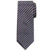 Chester By Chester Barrie Three Colour Square Silk Tie Gold Blue Navy