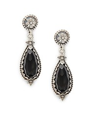 Konstantino Calliope Onyx And Sterling Silver Teardrop Earrings
